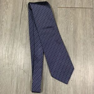 Burberry London Red, White, Blue Silk Tie